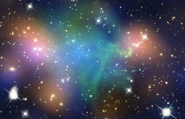 宇宙カラフル星雲 無料写真