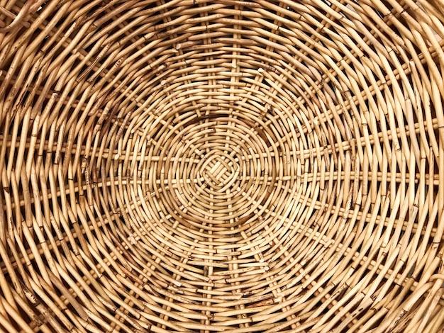 Ротанговый узор из плетеной древесины Premium Фотографии