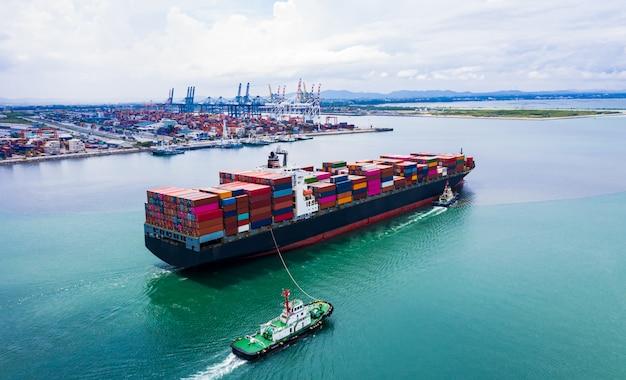貨物コンテナの輸出入輸送国際海上貨物輸送サービス Premium写真