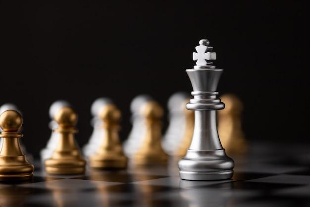 銀の王はリーダーです Premium写真
