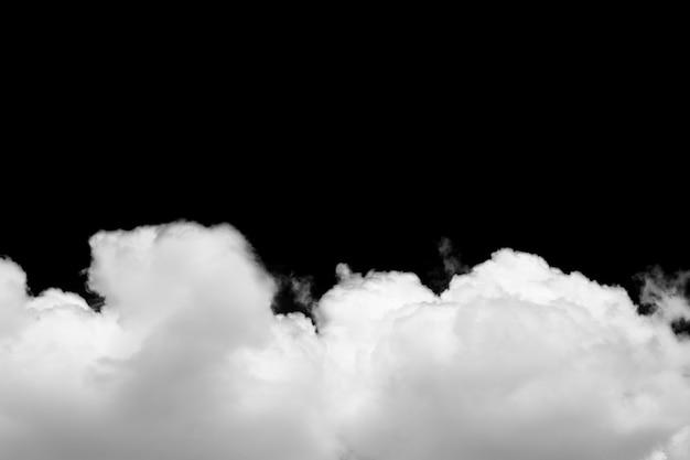 Облака, изолированные на черном фоне с обтравочный контур. Premium Фотографии