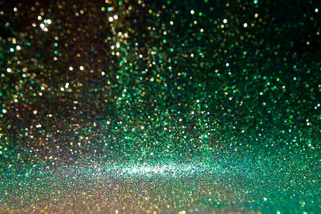 キラキラヴィンテージライト。抽象的なゴールド。素晴らしい光を輝きます。 Premium写真