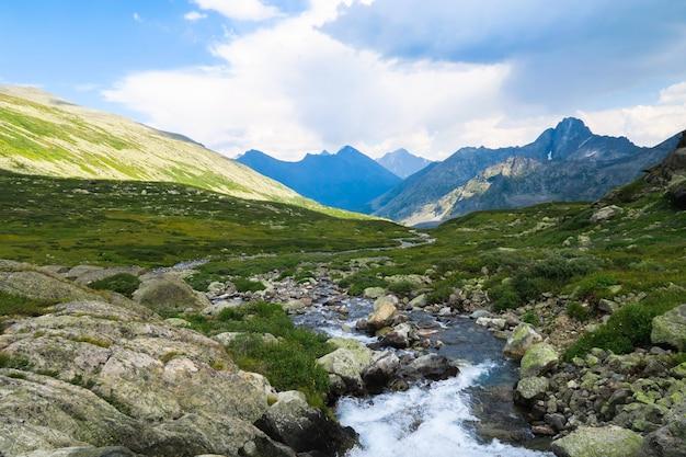 渓流ストリームの美しい景色 Premium写真