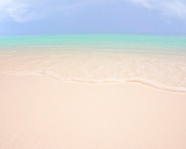 海の砂と空の背景 Premium写真