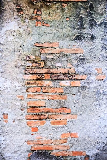 ヴィンテージ高齢者赤茶色色焼き上げ建築テクスチャの詳細な粘土石レンガブロック壁構造インテリアデザインの外壁 Premium写真
