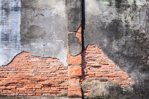 ヴィンテージ高齢者赤茶色建築テクスチャ粘土石レンガブロック構造壁 Premium写真