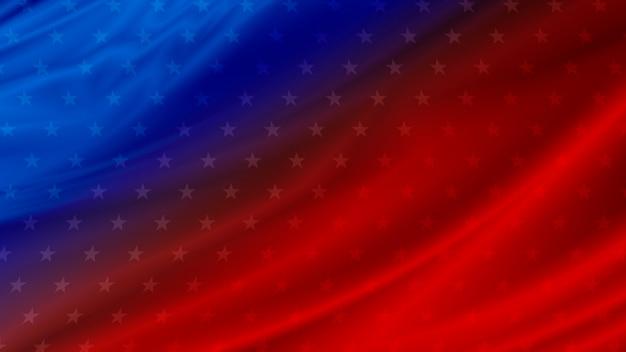 コピースペースを持つアメリカの国旗の背景 Premium写真