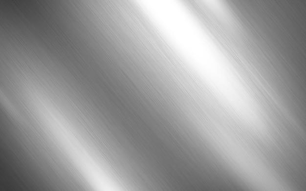 銀の金属のテクスチャ Premium写真