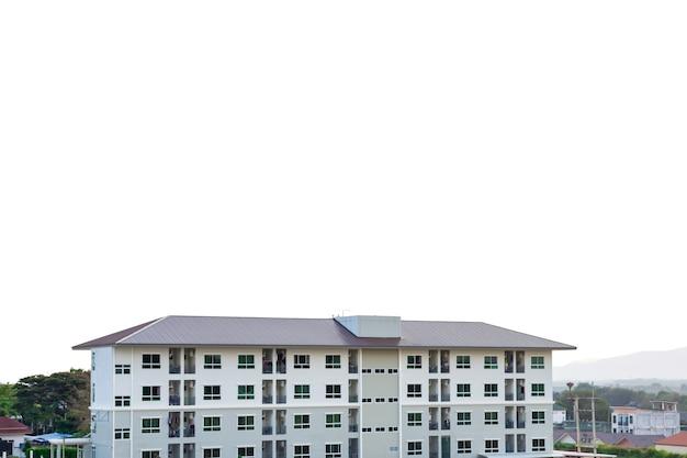 Строительная площадка дома с фоном горных пейзажей Premium Фотографии