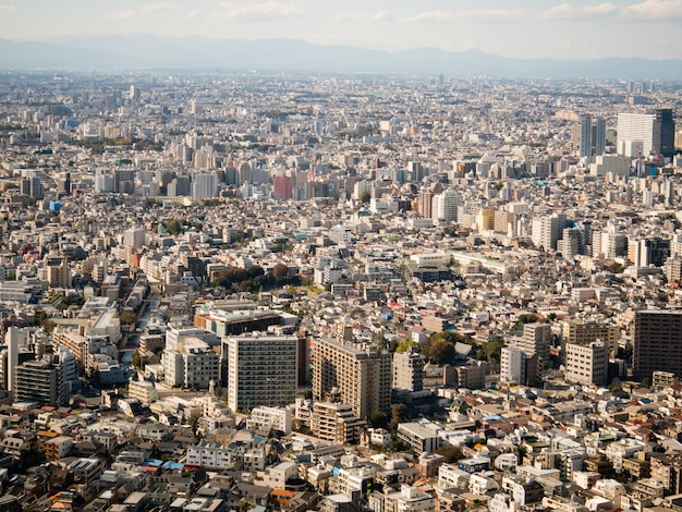 新宿東京都庁から見た東京の街並 Premium写真