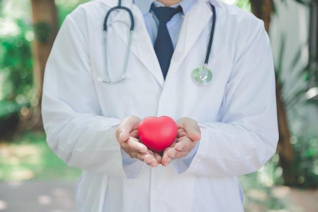 医師は毎年心臓病の検査を勧めます。 -製品の表示やプロモーションに使用できます。 Premium写真