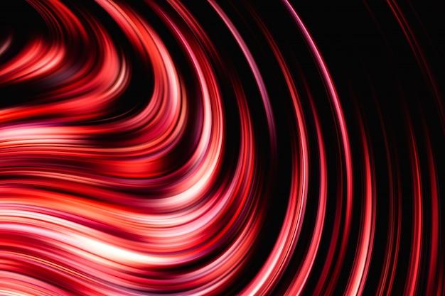 赤と黒の抽象的な構成 Premium写真