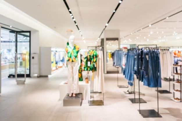 抽象的なファッションブティック衣料品店のぼやけ Premium写真