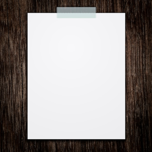 Чистый белый лист фото