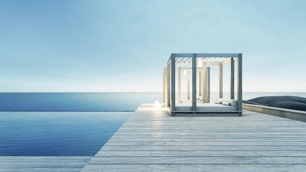 ビーチラウンジ - 休暇と夏の海の景色にオーシャンヴィラ Premium写真