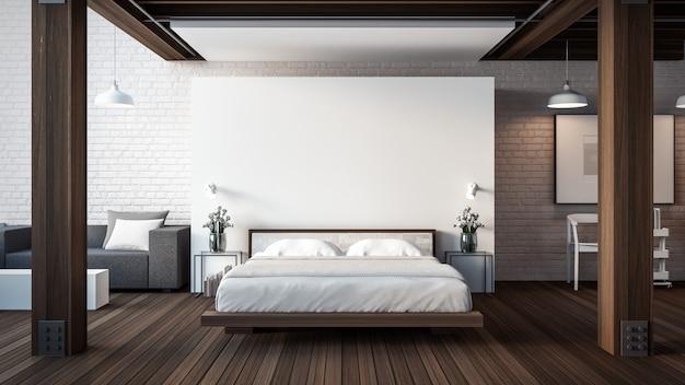 Лофт & современная спальня Premium Фотографии