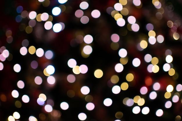 街の夜ボケライト Premium写真