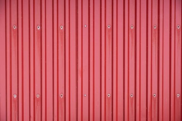 赤い貨物コンテナー行ラインテクスチャ背景 Premium写真