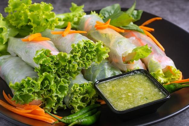 生野菜ライスラップ Premium写真