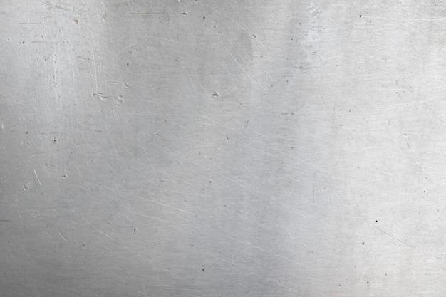 アルミニウムの背景色または質感とグラデーションの影。 Premium写真