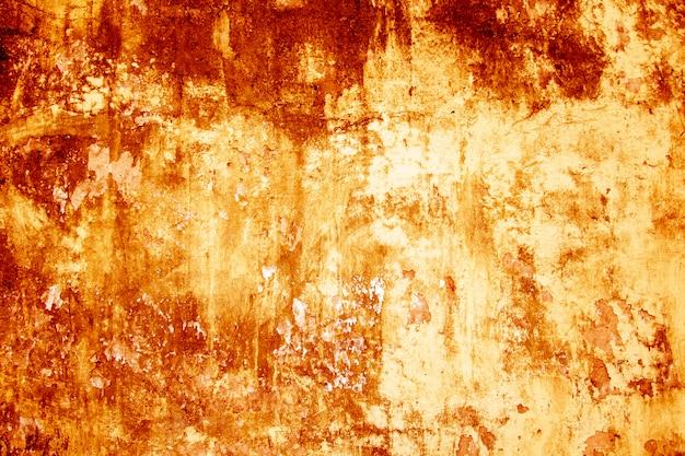 血テクスチャ背景。血まみれの赤い汚れとコンクリートの壁のテクスチャ。 Premium写真