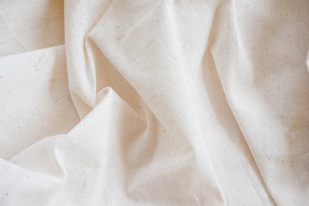 Белая ситцевая ткань Premium Фотографии