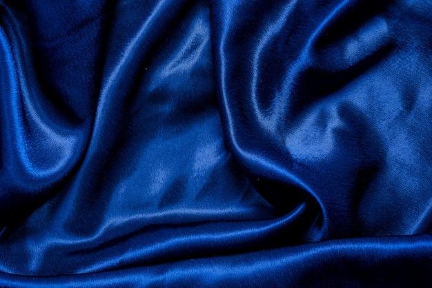 青い布布背景テクスチャ Premium写真