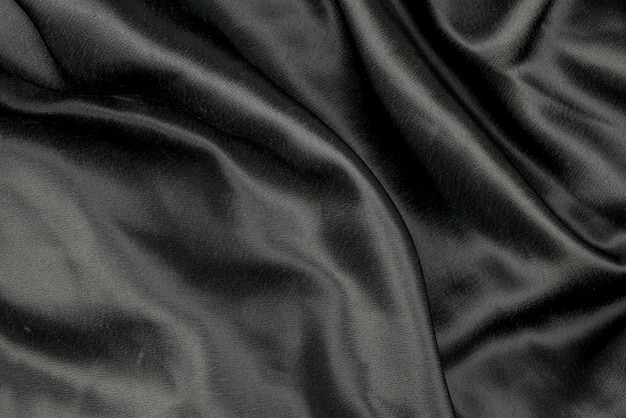 黒い布布背景テクスチャ Premium写真