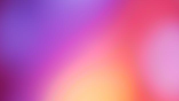 パステルトーンパープルピンクブルーグラデーションデフォーカス抽象写真滑らかな線の色の背景 Premium写真