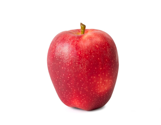 Свежее изолированное красное яблоко Premium Фотографии