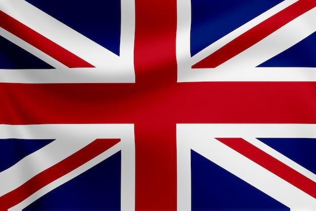 イギリスの旗を振っています。 Premium写真