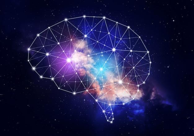人間の知性の概念。 Premium写真