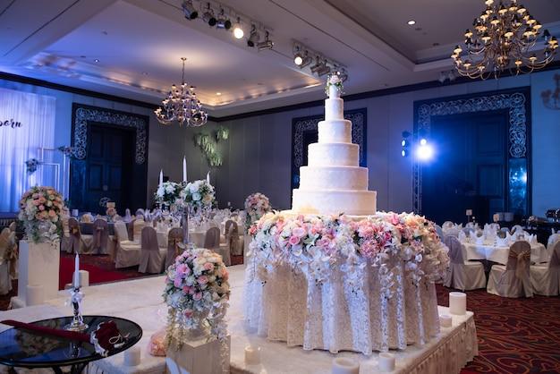 Торт для свадьбы Premium Фотографии