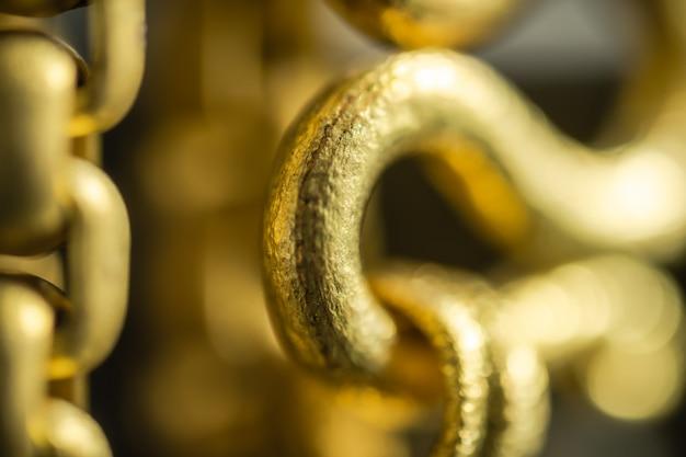 金の宝石類の背景のスーパーマクロ Premium写真