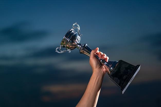 勝者と成功したコンセプト Premium写真