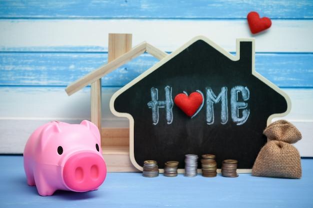 不動産売却貯蓄、住宅ローン。住宅産業住宅ローン計画の戦略。 Premium写真