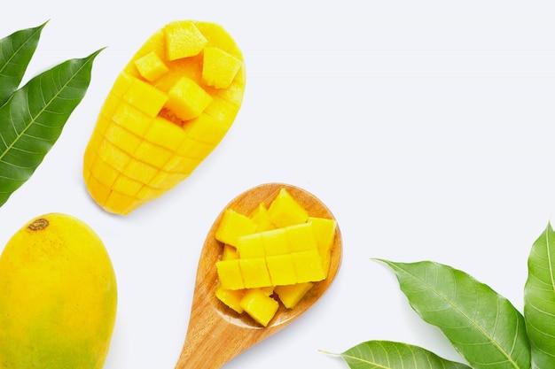 トロピカルフルーツ、白のマンゴー Premium写真