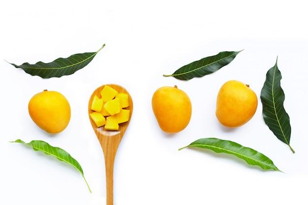 Тропические фрукты, манго. Premium Фотографии
