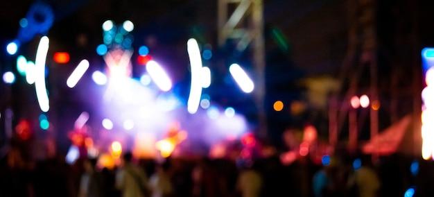 多重ぼやけステージライトと背景画像 Premium写真
