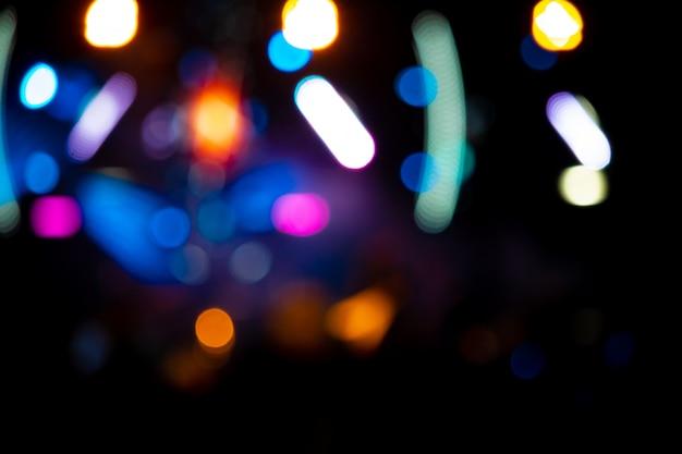 Фоновое изображение с расфокусированным размытым сценическим освещением Premium Фотографии