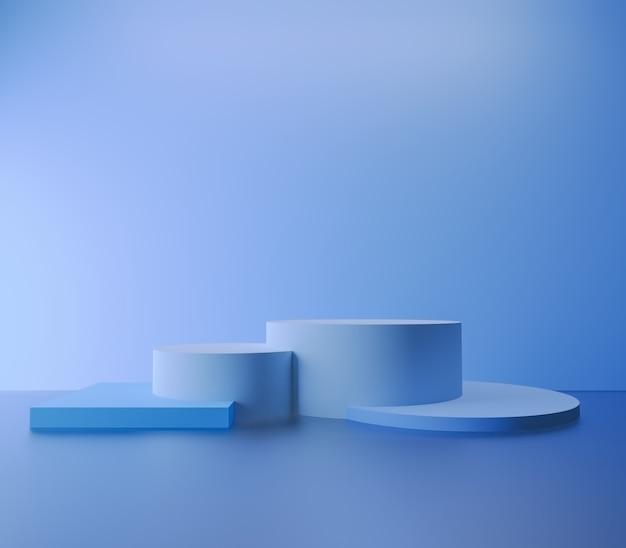 製品のプレゼンテーションのための抽象的な表彰台の最小限の背景のモダンな空のショーケースのモックアップ Premium写真