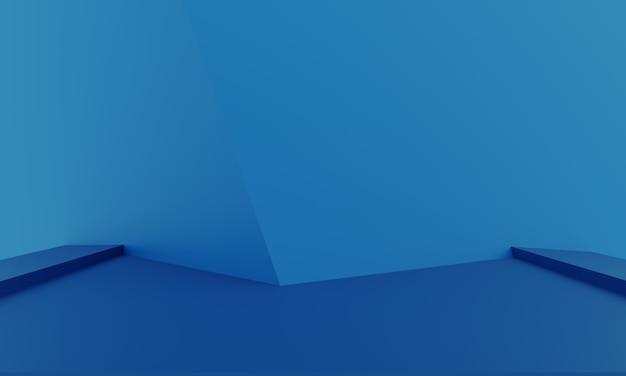 製品のプレゼンテーションのための抽象的な最小限の背景のモダンな空のショーケースのモックアップ Premium写真