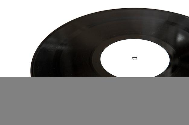 白い背景に隔離されたビンテージビニールディスク Premium写真
