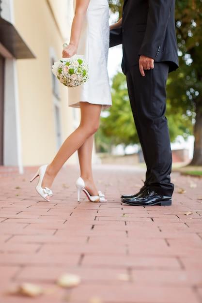 結婚式のカップル Premium写真