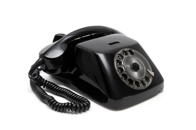 黒のビンテージ電話 Premium写真