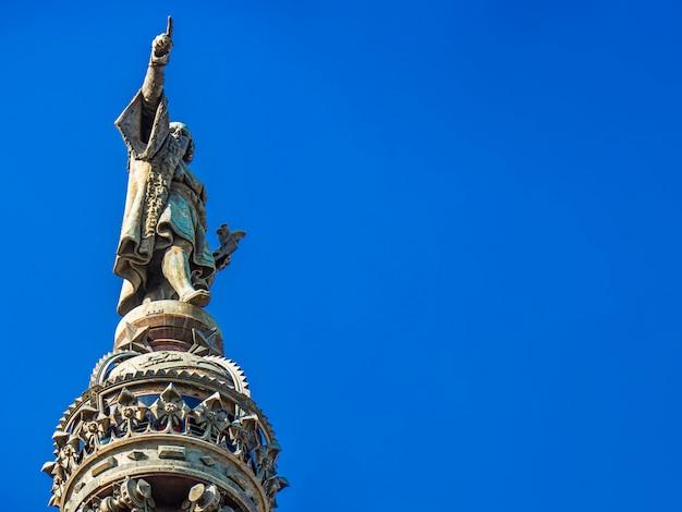 Памятник христофору колумбу в барселоне, испания Premium Фотографии