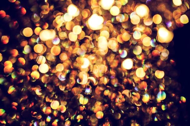 Затуманенное абстрактный свет роскоши лампы ночью на вечеринку или праздник фон Premium Фотографии