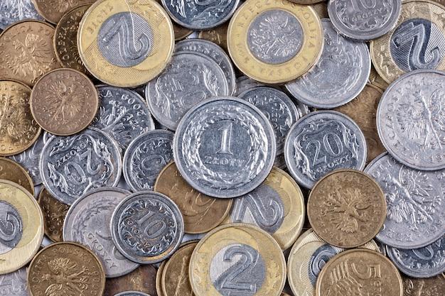 ポーランドのコイン、ビジネスの背景 Premium写真