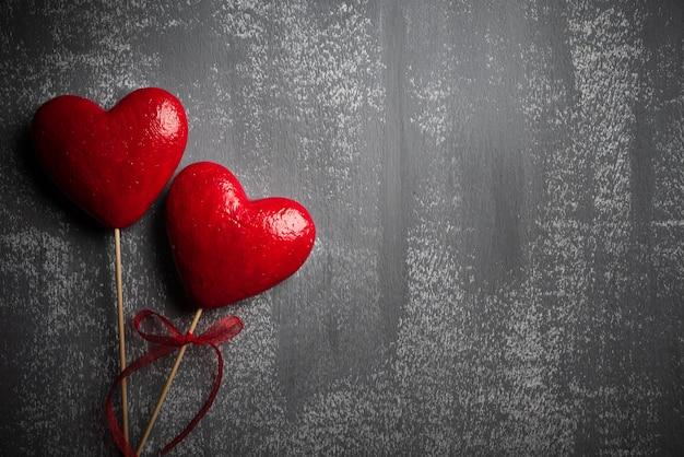 バレンタインの日と愛の概念の背景。 Premium写真