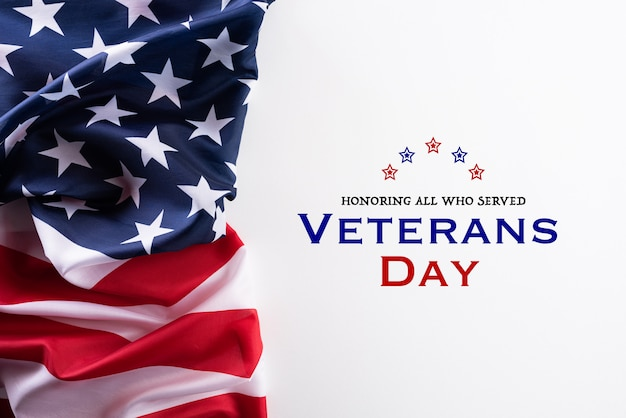 退役軍人の日のアメリカの国旗 Premium写真